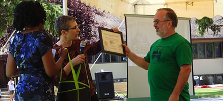 Faith United Presbyterian Church receives their Healthy HotSpot certificate.