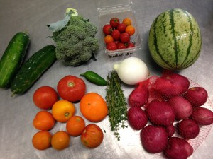 small CSA box content sample