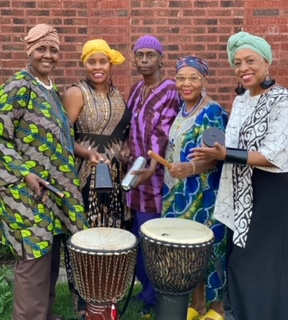 Hughes (right) with other members of Sapphire's Good Vibe Tribe
