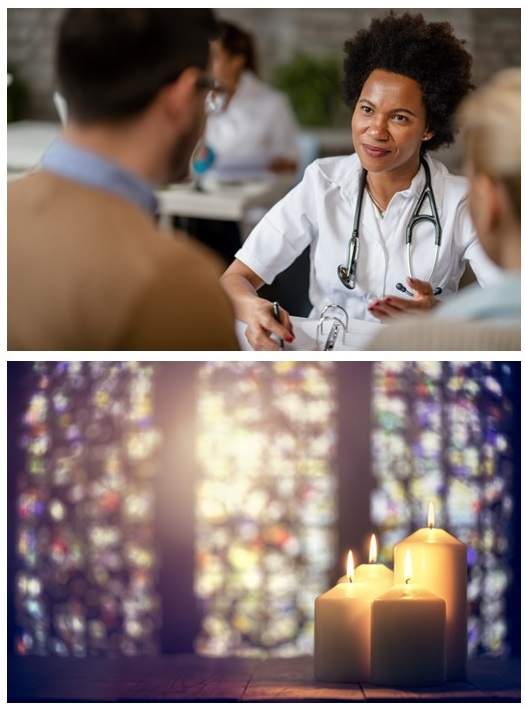 physician and candles